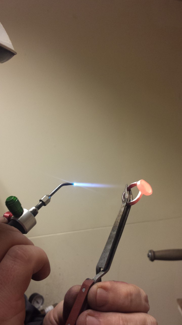 ring welding with torch